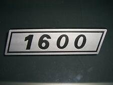 Emblem / Badge Fiat 131 1600 Plastik ca. 115 x 30 mm, 2 Befestigungsstifte Pins