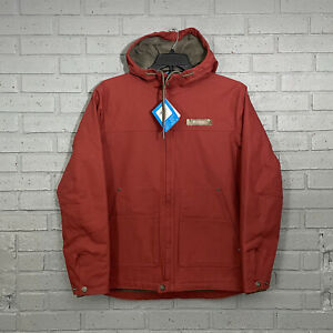 $100 Mens Size M Columbia PHG Real Tree Roughtail Hooded Work Jacket Red Rust