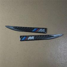 Pair M Real Carbon Fiber Side Sticker Decal Badge Emblem xdrive Motor Power #7
