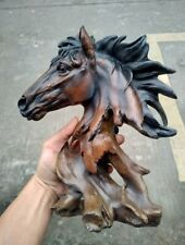 Horse head Hand Carved Wooden ornament Resin craft carvings Homedecor statue