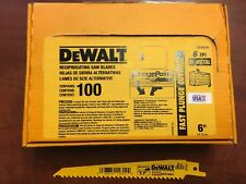 "(100) DEWALT 6"" RECIPROCATING SAWZALL WOOD SAW BLADES 6-TPI DW4802 DW4802B"
