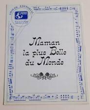 Partition sheet music DALIDA TINO ROSSI : Maman la Plus Belle du Monde * 50's