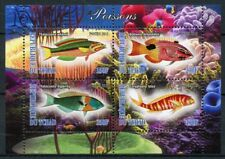 Chad 2013 MNH Fish Fishes 4v M/S II Poissons Corals Marine Life Stamps