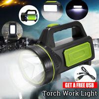 135000LM 220V LED luz de trabajo recargable antorcha vela foco lámpara de mano d