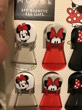 Minnie Mouse Magnetic Back Sealing Clip Food Storage Chip Bag Clips 6 Pack Nwt