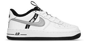 Scarpe ragazzi donna uomo Nike Air Force 1  LV8 Bianco nero Sneakers Sportiva