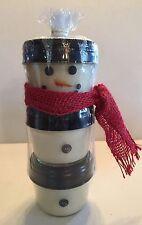 "Swan Creek Candle Snowman 18 oz (Three 6 oz Candles) 9"" Tall"