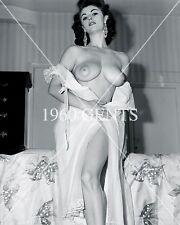 1950s NUDE 8X10 PHOTO OF BIG-BOOBS-NIPPLES ROSA DOLMAI PINUP FROM ORIGINAL NEG-1