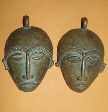 Africa Ashanti Baule Senufo Goldweight Pendant Bronze Lost Wax Mask African Face