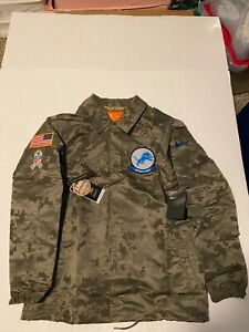 Nike Detroit Lions Salute to Service 2019 Jacket NWT Men's AT7782-222