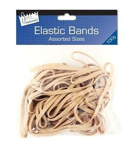 PACK OF ASSORTED SIZE ELASTIC RUBBER BANDS 100 GRAMS 6225