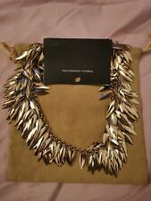 French Connection FCUK gold colour collar spike leaves necklace