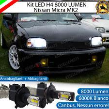 KIT H4 A LED PER NISSAN MICRA MK2 II LAMPADE LED H4 6000K XENON BIANCO NO AVARIA