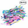 48PCS Friendship Fidget Zipper Bracelets Sensory Toys Bulk Set Neon Colors Kit