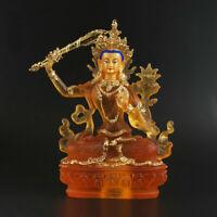 Tibet Tibetan Buddhism Resin Gild Manjuist Boddhisattva Kwan-yin Guanyin Buddha