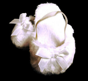 White Mule Slipper Shoes made for 18 inch American Girl Doll Clothes