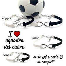 bracciale con infinito della squadra del cuore braccialetto da per tifoso calcio