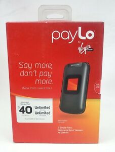 Samsung Entro SPH-M270 Black payLo by Virgin Mobile Cellular Phone no camera New