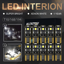 10X 12V T10 168 194 SMD 3030 LED Car White Side Canbus Interior Wedge Light Bulb