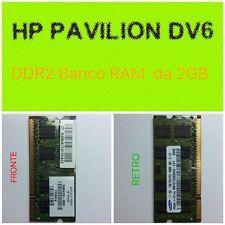 Banco di RAM da 2GB tipo DDR2 per Notebook HP Pavilion DV6-2004SL