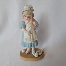 Vintage Jan Hagara Porcelain Figurine AMY 1987 Signed VICTORIAN GIRL WITH DOLL