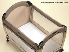 Bamboo Travel Cot Fitted Sheet White Comfort Baby/Toddler