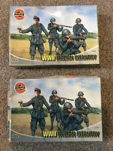 AIRFIX x 2 Boxes World War II Italian Infantry 1:72 / HO OO