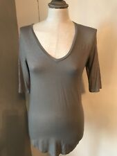 Majestic Filatures Paris Metallic V T Shirt Grey BNWT Size 2