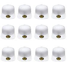 Plain Blank Flat Brim Adjustable Snapback Baseball Caps WHOLESALE LOT 12pcs