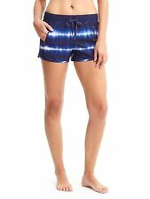 Athleta NWT Tie Dye Sway Short S MSRP $54 dress blue zip pockets drawstring