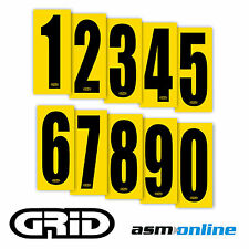 Go Kart  Racing Numbers -  8 x Senior Quality Adhesive Sticker Numbers