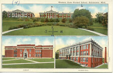 OLD POST CARD USA ETATS-UNIS KALAMAZOO MICH WESTERN STATE SCHOOL