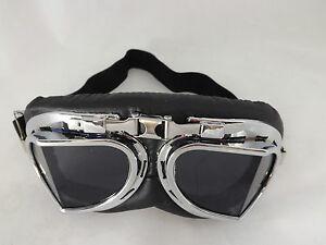 Goggles New Steampunk Victorian Cyber Fantasy World Unisex  Black Lens