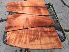 "Ultra Premium Curly Koa Wood 4@22-24""x4-10x1"" From Hawaii"