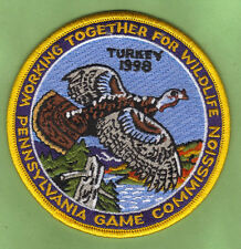 """Pa Pennsylvania Game Fish Commission NEW 4"""" WTFW 1998 Wild Turkey Patch"""