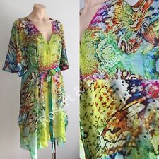 Silk Kaftan, O/S, 14-22, Dress, Silk Crepe, Crystal Embellished, Multi-coloured