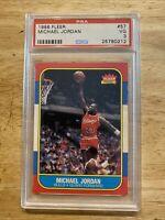 Michael Jordan ROOKIE PSA 3 Fleer #57 MJ Collector Card INVESTABLE ASSET 1986 NR