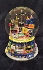 "Broadway New York City Snow Globe 6.5"" Music Times Square 2000 Twin Towers AMC"