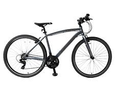 """Pathway X1 700c Hybrid Trekking Mens Bike 17"""" Frame Lightweight Grey 21 Speed"""