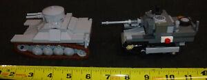 LEGO Military MOC 2 Tank type Vehicles lot of 2