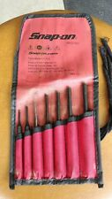 Snap On Tools 7 Pc Pin Punch Set w/ Pouch PPCD70BK Ships Free