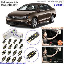 8 Bulbs Deluxe White LED Interior Light Kit For 2010-2017 MK6 Volkswagen Jetta