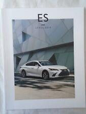 Lexus ES brochure 2019 USA market