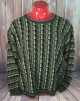 VTG Protege Collection Mens Size XL Textured Crewneck Cosby Knit Sweater