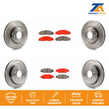 Front Rear Disc Rotors & Semi-Metallic Brake Pads Fits Cadillac CTS