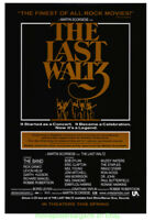THE LAST WALTZ MOVIE POSTER Original Re-Release 27x40 SCORSESE Film THE BAND