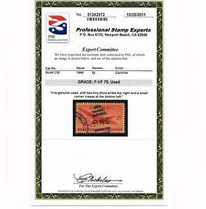 GENUINE SCOTT #C32 SKYMASTER F-VF USED PSE GRADED CERT - ESTATE SALE #6014