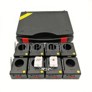8 cues powered by 9V battery portable cold fireworks sparkler machine