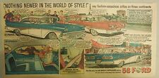 "Ford  Ad: ""The World of Style""  from 1958"