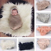 Newborn Clothes Baby Girl Boy Infant Wool Blanket Swaddle Wrap Photo Feather